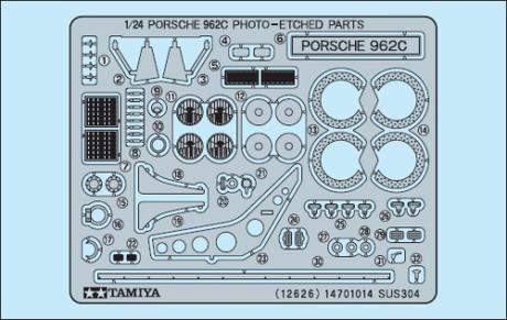 1/24 Porsche 962 Photo-Etched
