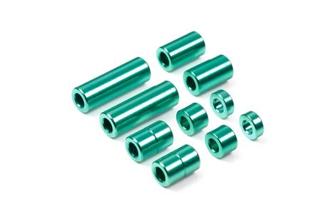 Jr Aluminum Spacer Set Green