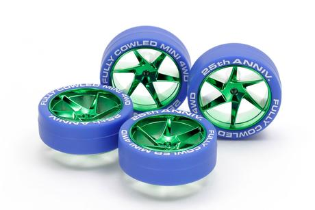 Jr Blue Tires/Green Pl Wheels