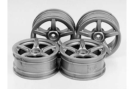 Rc 24Mm 5-Spoke Wheels-4Pcs