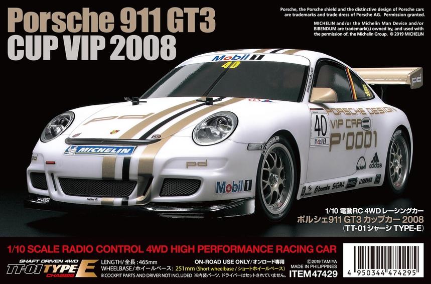 Tamiya Porsche 911 Gt3 Cup Vip2008 Tamiya Usa