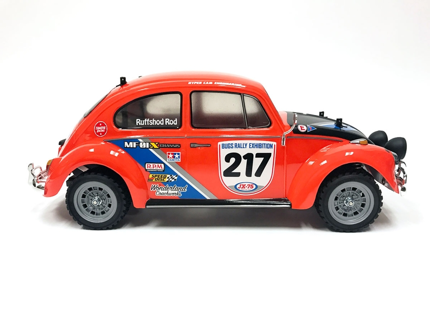 Tamiya Electric RC car series No.650 1//10 Volkswagen beetle Rally MF-01X chassis