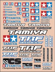 Tamiya Logo Sticker Set