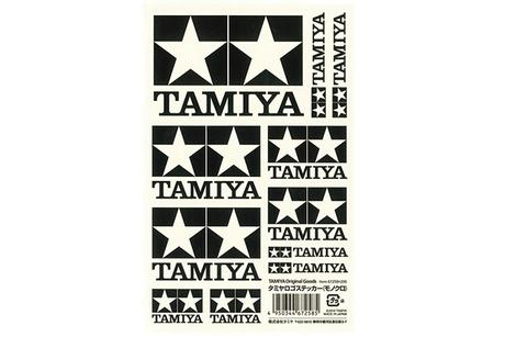 Tamiya Logo Sticker (White)